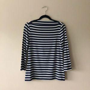88e5caf1a25d5c Old Navy navy blue/white striped boat neck top